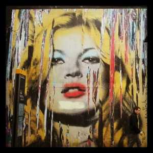 Iconic Pop Art Kate Moss
