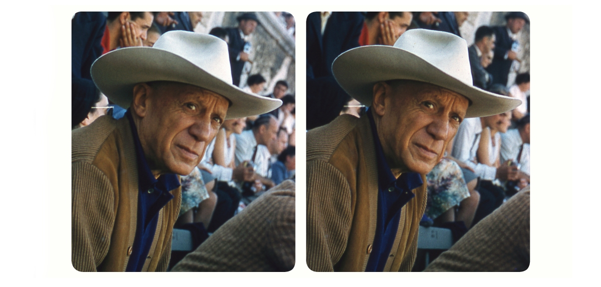 Stereoscopic Photographs of Pablo Picasso