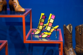 Installation view of Shoes: Pleasure and Pain Artist: Date: 13 June 2015 - 31 January 2016 Credit line: Victoria and Albert Museum, London